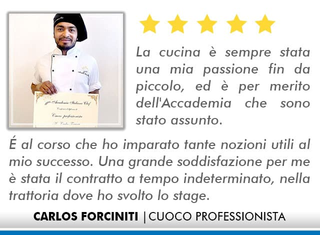 Opinioni Corso Cuoco a Roma - Forciniti