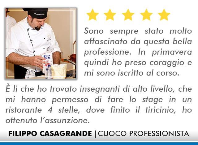 Opinioni Corso Cuoco a Roma - Casagrande