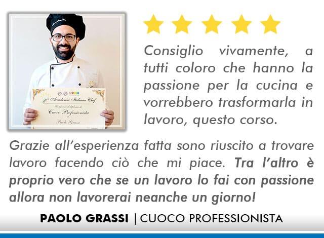 Opinioni Corso Cuoco a Roma - Grassi
