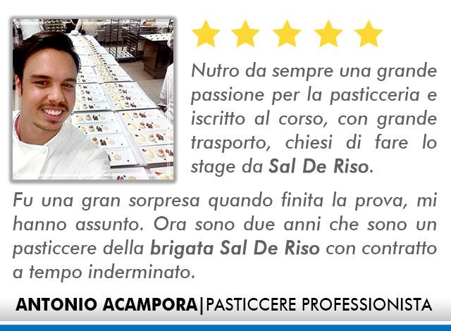 Opinioni Corso Pasticceria a Roma - Acampora