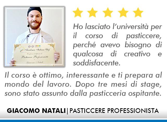 Opinioni Corso Pasticceria a Roma - Natali