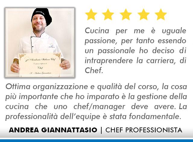 Opinioni-Corso-Chef - M-Giannattasio