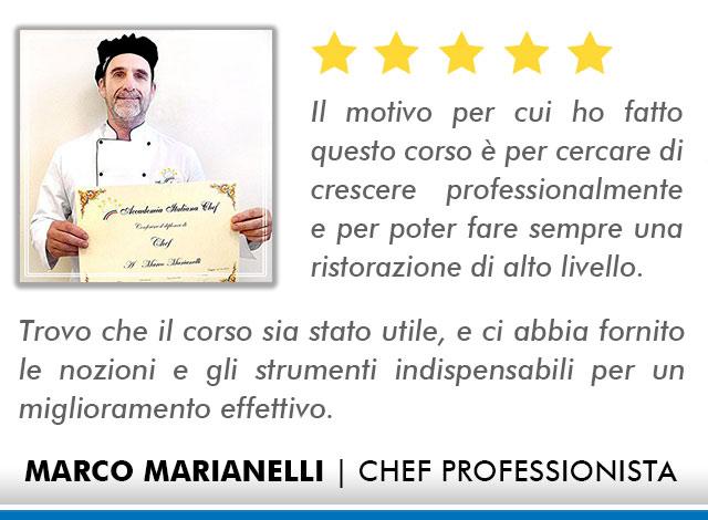 Opinioni-Corso-Chef - M-Marianelli