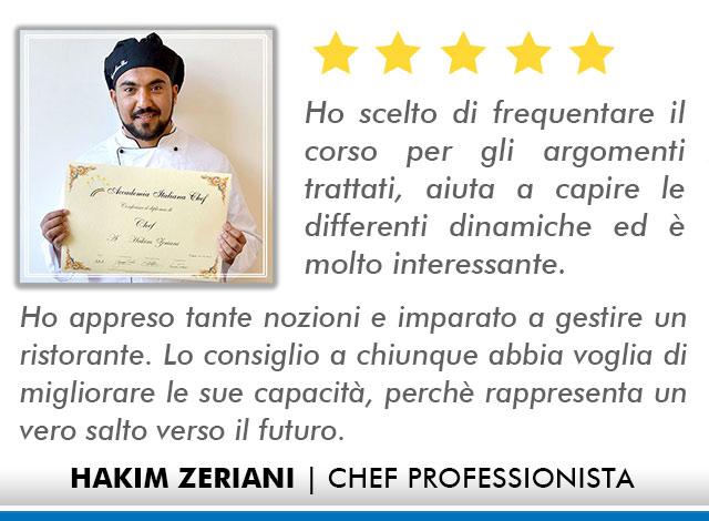 Opinioni-Corso-Chef - M - Zeriani