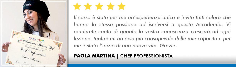 Opinioni-Corso-Chef - Martina