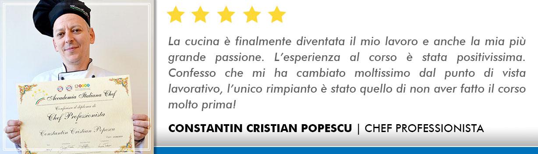 Opinioni-Corso-Chef - Popescu